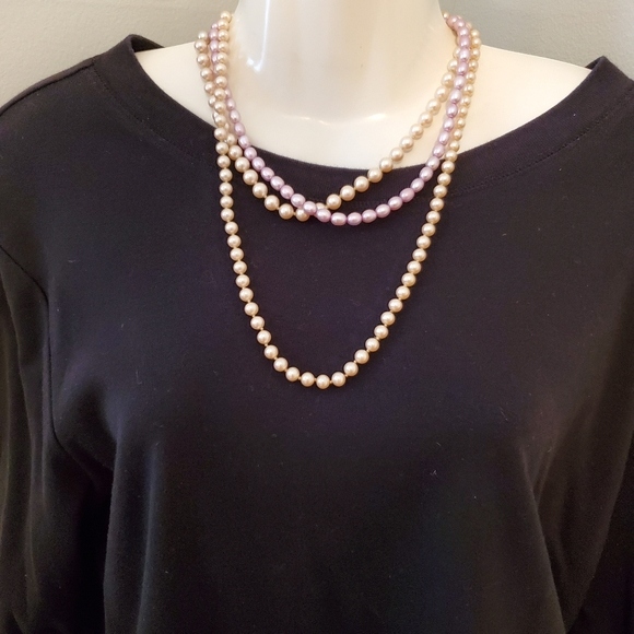 UNKNOWN Jewelry - LOT OF 3 FAUX PEARL NECKLACES